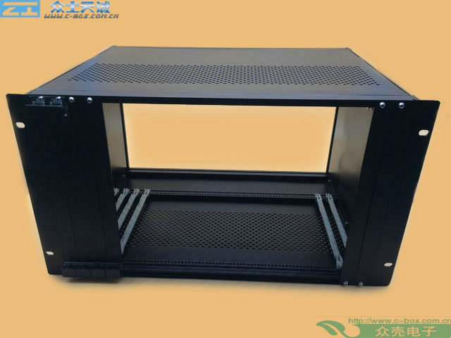 "subrack 6u/  266*483*350mm 19"" standard Server subrack full aluminum custom"