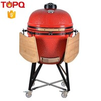 TOPQ LARGE Charcoal Grills Grill Type and Porcelain Enameled Finishing heavy duty commercial charcoal bbq grill & smoker