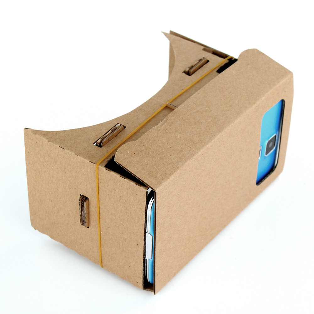 "New Fashion for Samsung 5.2"" Inch Google Cardboard Ultra Clear 3D Glasses VR Virtual Reality DIY Toolkit"