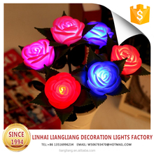 2017 new product birthday party decoration christmas motif led flower light