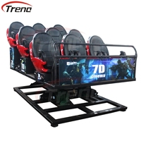 coin operated mini theater 5d cinema 6 seats for showroom