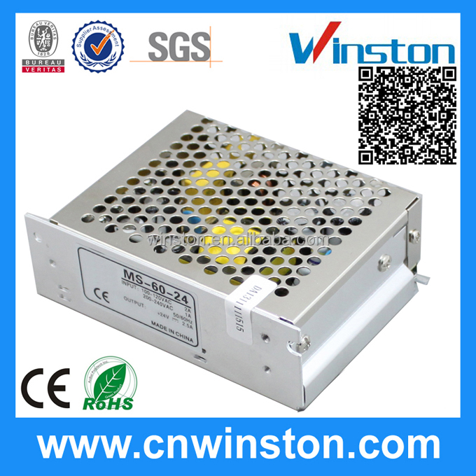 MS-60-24 LED Mini Size Din AC DC Switching Power Supply with CE