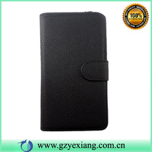 Leather wallet cover for lg optimus g pro lite D680