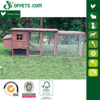 DFPets DFC009+Run Wooden Chicken Cage,Solid Wood,Strong Wire Mesh