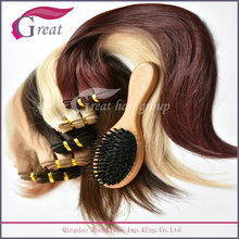 Greathairgroup Best Selling High Quality Wooden Boar Bristle Hair Brush