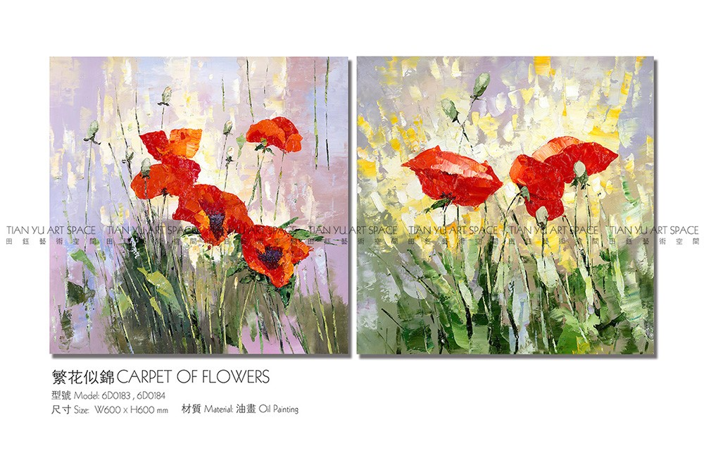 Artist handpainted flower canvas wall art oil painting frames photo