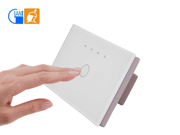 LED Touch Wall Light Timer Control <strong>Switch</strong> 1 Gang 1 Way/ 2 Way Giant JJ-USA-01
