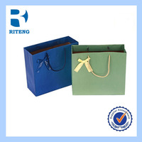 rope handle paper gift bag with logo