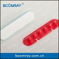 Ningbo Boomray factory hot sale PP multipurpose electronic colorful cable clips tie wire winder glass fruit ornaments gifts