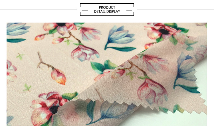Printed Polyester Digital Printing Beautiful Fabric For Dresses