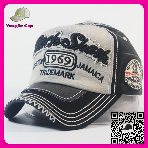 custom embroidery baseball cap high quality unstructured low profile distressed cap 6 panel baseball cap