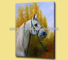 Abstract running horses painting for hanging on wall