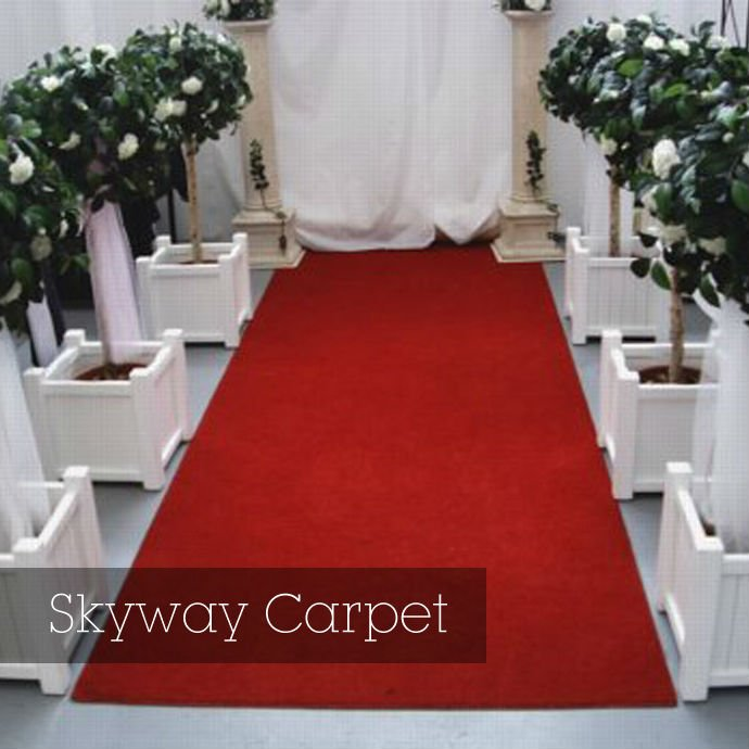 ribbed polyester exhibition carpet hall carpet