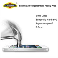 0.3mm 2.5D 9H clear Tempered Glass Screen Protector for iphone SE / 5 /5s