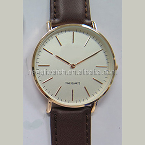 2016 simple style Japan movement slim case quartz watch for mens