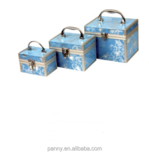 fashion printing aluminum cosmetic beauty case with handle