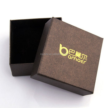Natural brown paper gift box for necklace bracelet earring jewelry packaging