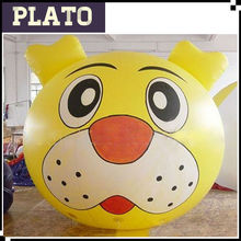 Yellow Inflatable tiger ball, Inflatable tiger Mascot for decoration