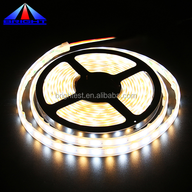 White+Warm white DC12/24V 60leds/m 2700+6500K double color high CRI 90 smd 2835 led light 5m/roll