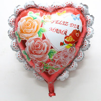 24 inch heart Mama balloons happy mother's day Aluminum Foil balloon big laced helium balloon heart globos