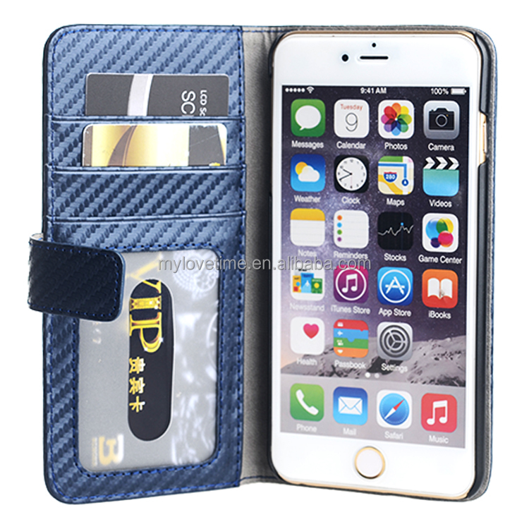 genuine leather wallet flip case for iphone 6 case