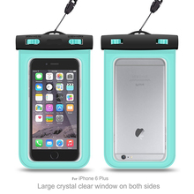 Wholesale Plastic Cell Phone Neck Ganging Bag Swim Travel phone waterproof case cover bag for gift