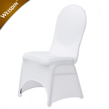Wedding white lycra spandex universal chair cover with front arch housses de chaise