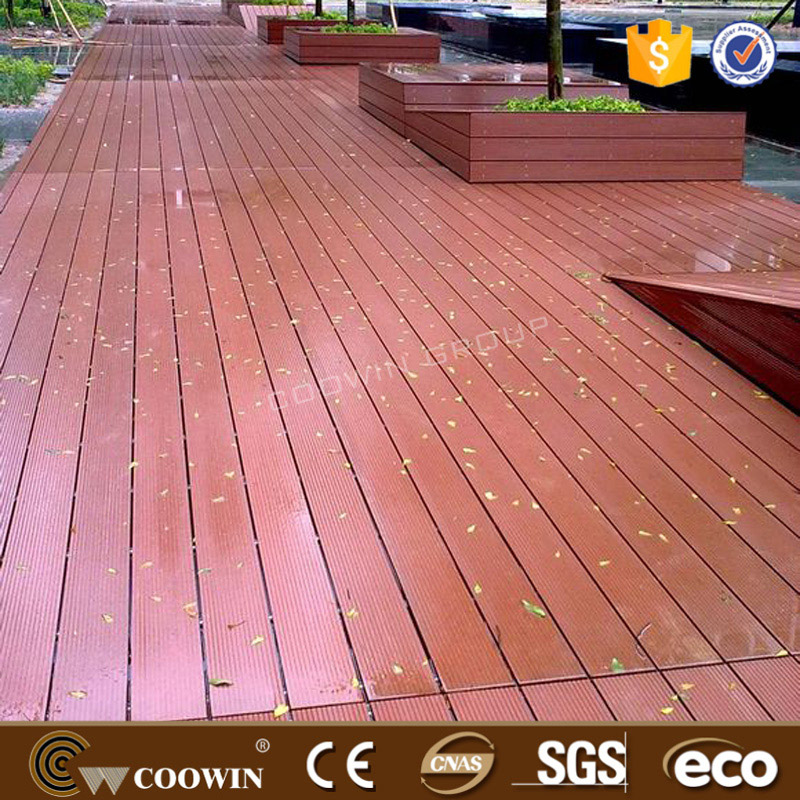 Popular eco wood plastic composite red wood WPC decking