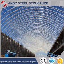 Fast assemble steel structure space grid coal shed roofing