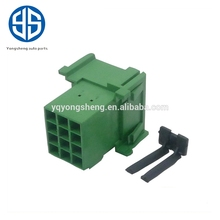 PA66-Gf15 Material 12 Pin Male Connector 1-967627-1 with Terminals