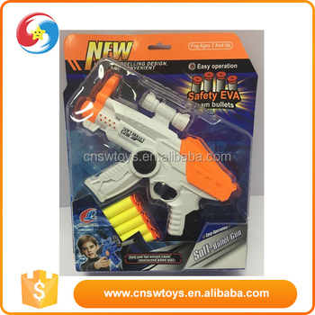 manual Nerf Switch Shot Toy Gun Suction Cup Tip