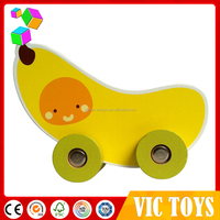 educational wooden toy car, cute wooden truck, kids toy fruit car