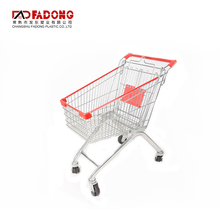 durable foldable metal shopping trolley cart