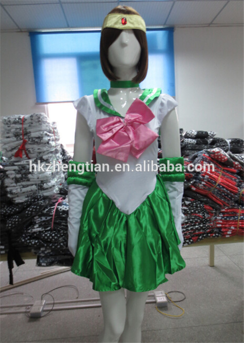 Cheap Plus size manufacturer New New Sailor Moon Jupiter Costume AUSSIE STOCK Cute Sexy Anime Green fancy Ling