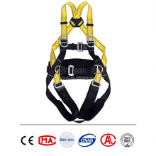 full body harness with lanyard shock absorbers