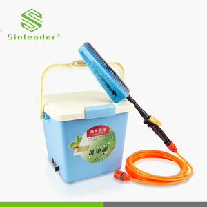 Portable spray washer machine high pressure 12v dc water pump for car washing with tank