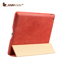 Jisoncase New arrival with folding and stand Leather skin Smart cover for ipad 4 case