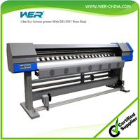New design 1.8m with dx7 heads WER ES1801I, machine to print vinyl stickers