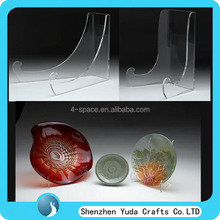 Acrylic Bowl Easel Stand with extra-long legs and defined hook