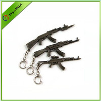 Vintage Key Chain Pocket Knife Gun Shaped Victory
