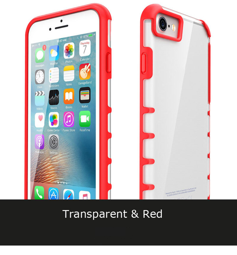 mobile phone accessory transparent PC candy color bumper for iphone 7Plus mobile phone full protective cover for iPhone7