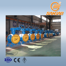 cast iron butterfly valve wcb cf8m worm gear electric operation hard seal triple eccentric offset