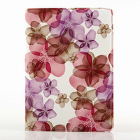 360 rotating PU leather flower case smart for ipad air 2
