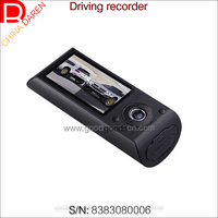 GPS track record dual camera 2.7 inch LCD Car Parking Sensor Driving Recorder with auto video recorder for car