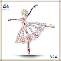 Fashion Shawl Brooches Top quality new product from china rhinestone dancer brooch for girls