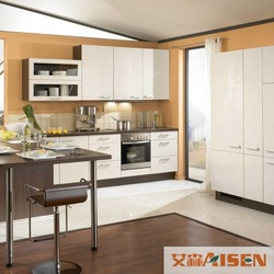 Wholesale High Glossy Kitchen Furniture With DTC Cabinet Hinges