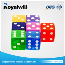 Wholesale Plastic Custom Colorful Dices in China