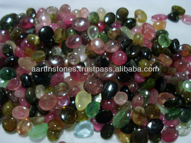 Multi Tourmaline Natural Gemstone Cabochons