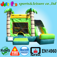 jungle theme inflatable jumper and slide, jump house Combo