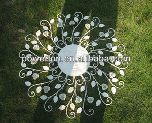 Decorative striking superior handcraft antique white metal wall deco